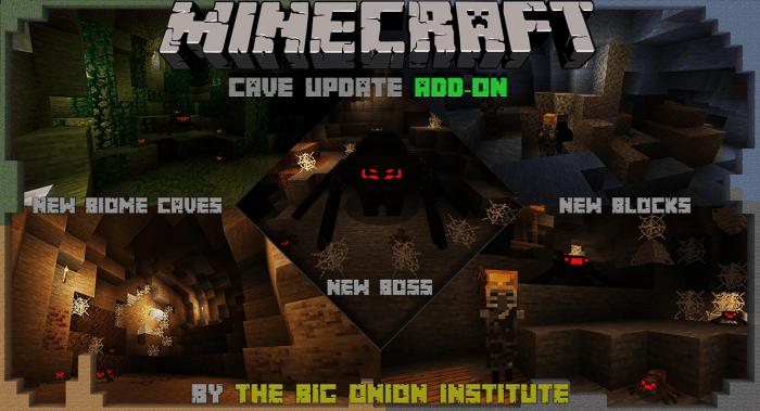 Cave Update Add-on | Minecraft PE Mods & Addons