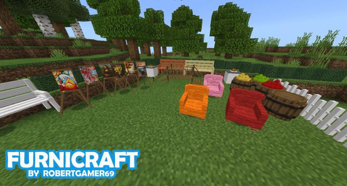 Furnicraft Addon for MCPE/Bedrock – Minecraft Addons