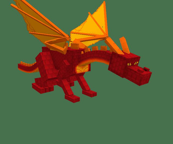 Картинки огненного дракона в майнкрафт