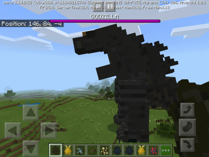 Godzilla King Of The Monsters Addon Minecraft PE Mods Addons