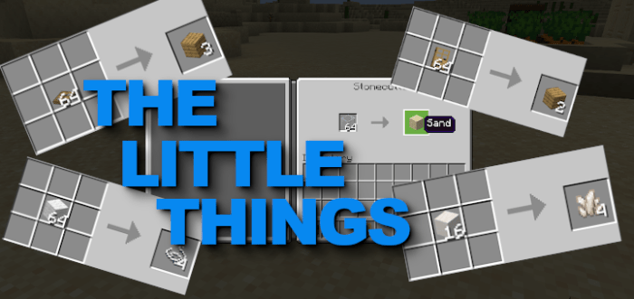 The Little Things Uncrafted Bedrock 1 16  Realms Support