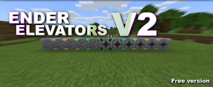 Ender Elevators V2 - Bedrock 1.16.100+ [Realms Support] Minecraft Mod
