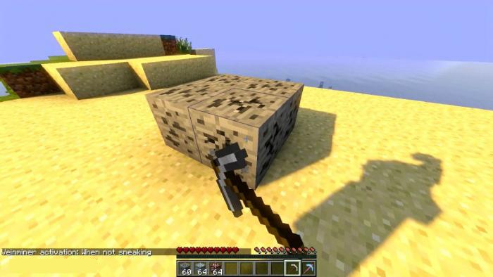 Vein Miner Addon | Minecraft PE Mods & Addons