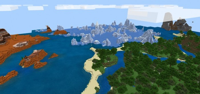 The 4 Biomes At Spawn Seed | Minecraft PE Seeds
