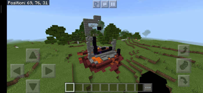 Ruined Nether Portal Seed 1 16 Minecraft Pe Seeds
