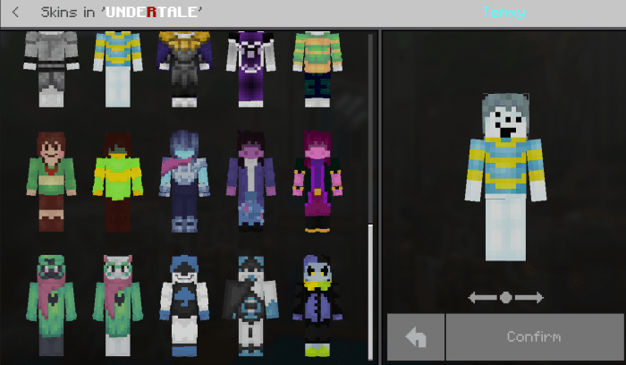 Undertale Skin Pack Minecraft Skin Packs