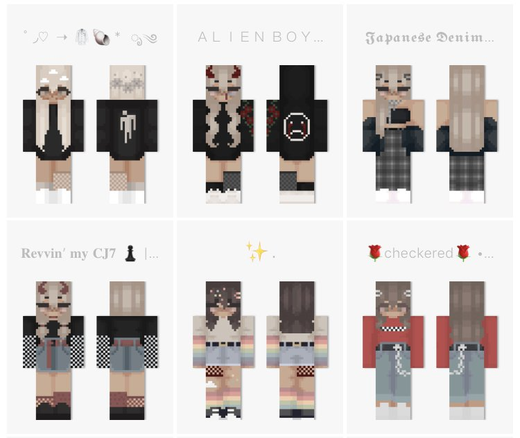Aesthetic Skin Pack Male Female Minecraft Skin Packs
