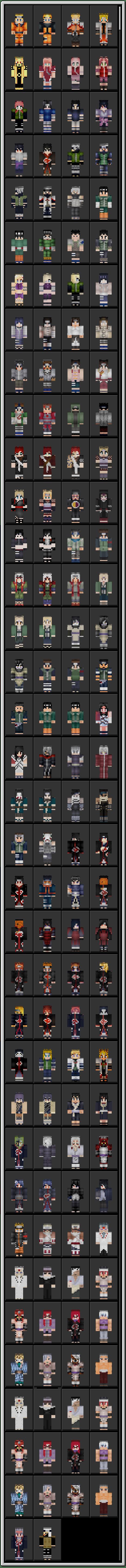 Naruto Skin Pack Minecraft Skin Packs