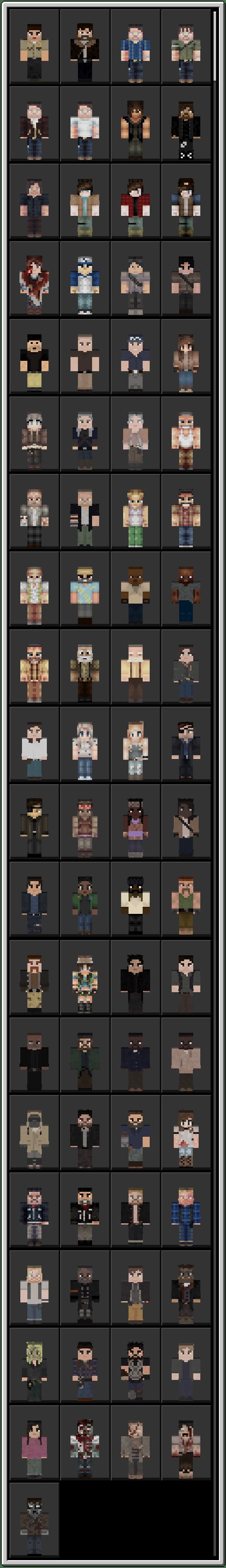 The Walking Dead Skin Pack!  Minecraft Skin Packs