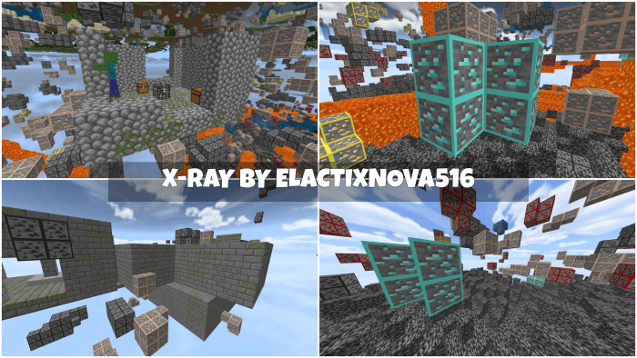 X Ray Dungeon And Stronghold Finder Minecraft Pe Texture Packs