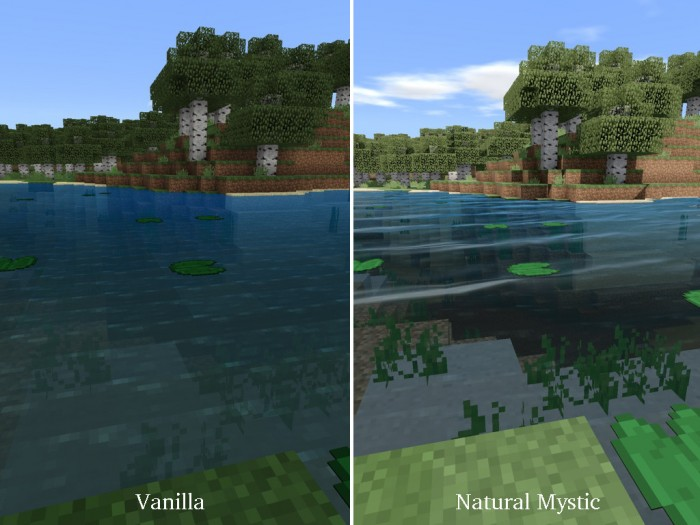 Natural Mystic Shaders | Minecraft PE Texture Packs