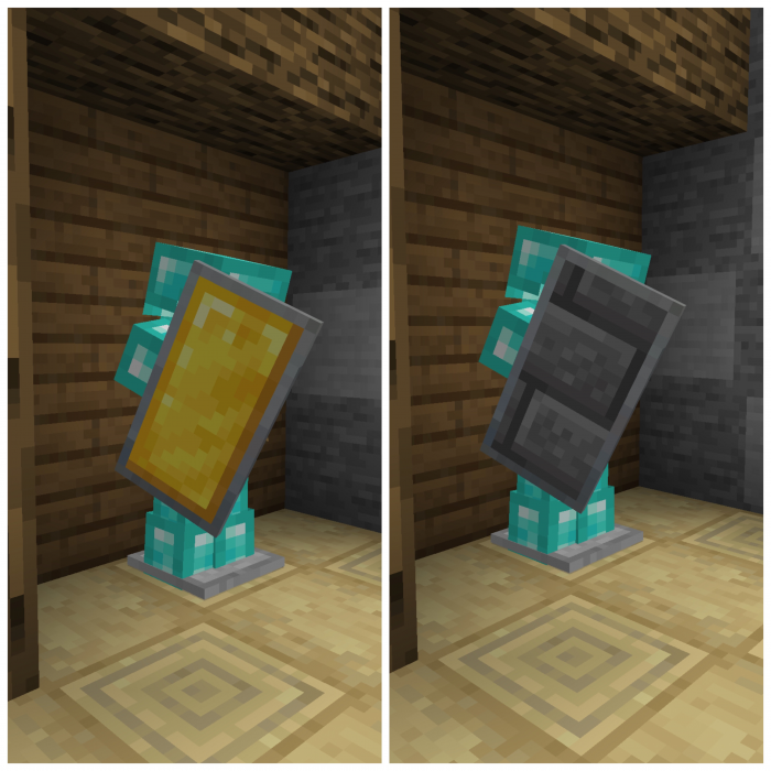 SENIOR H's Custom Shields: Blocks | Minecraft PE Texture Packs