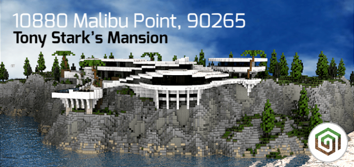 mcpe stark mansion map