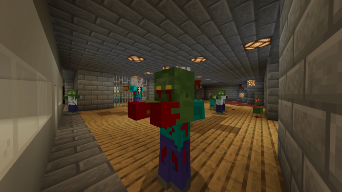 Zombie Survival : Subway | Minecraft PE Maps