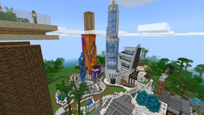 Mega Metropolis Valdin City | Minecraft PE Maps