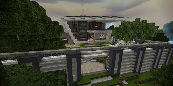 Longfield Modern Mansion Map Minecraft Pe Maps