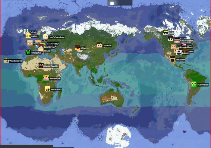 1:4000 Scale Map of Earth (SMP Earth Map) (1.14+) ...