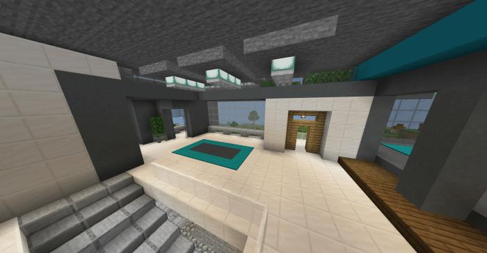 Large Modern House Minecraft Pe Maps
