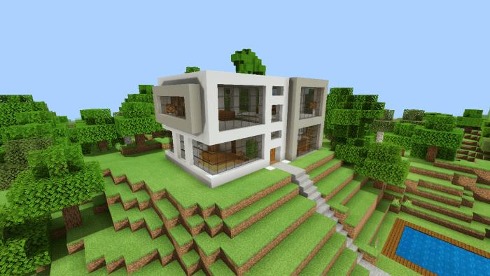 Modern House V2 Minecraft Pe Maps