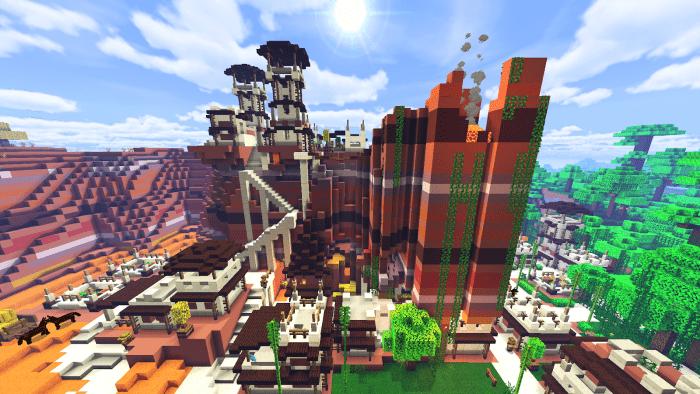 Village Badlands Jungle Map Building Minecraft Pe Maps
