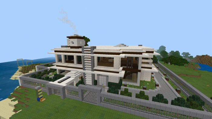 Smart Modern House Minecraft Pe Maps