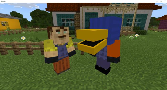 Hello Neighbor 2 Multiplayer Game Minecraft Pe Maps