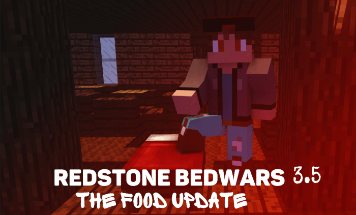 The Redstone Bedwars The Food Update Pvp Minigame Minecraft Pe Maps